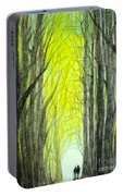 Though The Forest To The Light  Portable Battery Charger