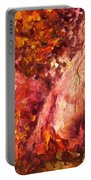 Thoughts Of Pleasure - Palette Knife Oil Painting On Canvas By Leonid Afremov Portable Battery Charger