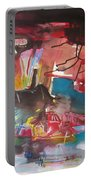 Three Arms10  Original Abstract Colorful Landscape Painting For Sale Red Blue Green Portable Battery Charger