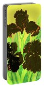 Three Black Irises, Painting Portable Battery Charger