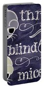 Three Blind Mice Children Chalk Art Portable Battery Charger