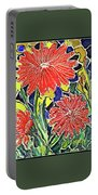 Three Red Blooms Portable Battery Charger