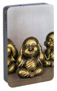 Three Buddha Statue Portable Battery Charger