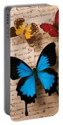Three Butterflies Portable Battery Charger