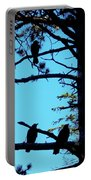 Three Crows In A Tree Portable Battery Charger