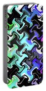Three-d Dimensional Abstract Design Portable Battery Charger