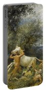 Three Faun With Cow And Calf Portable Battery Charger