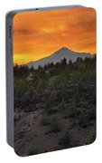 Mount Jefferson At Sunset Portable Battery Charger