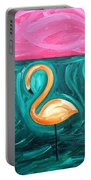Three Flamingoes Portable Battery Charger