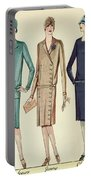 Three Flappers Modelling French Designer Outfits, 1928 Portable Battery Charger