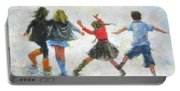 Three Girls And Boy Portable Battery Charger