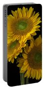 Three Golden Sunflowers Portable Battery Charger