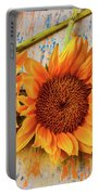 Three Graphic Sunflowers Portable Battery Charger