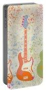 Three Guitars Paint Splatter Portable Battery Charger