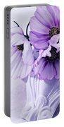 Three Lavender Cosmos Portable Battery Charger
