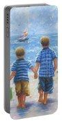 Three Little Beach Boys Walking Portable Battery Charger