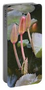 Three Lotus Buds Portable Battery Charger