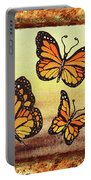 Three Monarch Butterflies Portable Battery Charger