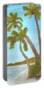 Three Palms At The Beach Portable Battery Charger