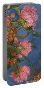 Three Peonies Portable Battery Charger