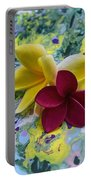 Three Plumeria Flowers Portable Battery Charger