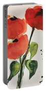 Three Poppies Portable Battery Charger