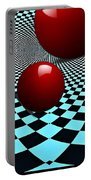 Three Red Balls Portable Battery Charger