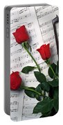Three Red Roses  Portable Battery Charger