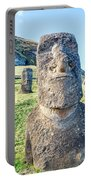 Three Standing Moai Statues Portable Battery Charger