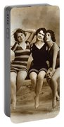 Three Vintage Bathing Beauties Portable Battery Charger