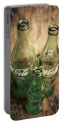Three Vintage Coca Cola Bottles  Portable Battery Charger