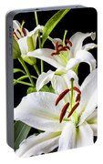 Three White Lilies Portable Battery Charger