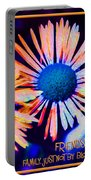 Three Wild Flowers Friendship Portable Battery Charger