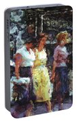 Three Women In Town Portable Battery Charger