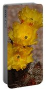 Three Yellow Cactus Flowers Portable Battery Charger