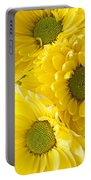 Three Yellow Daisies  Portable Battery Charger
