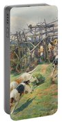 Through The Fence Portable Battery Charger by Arthur Charles Dodd