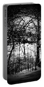 Through The Lens- Black And White Portable Battery Charger