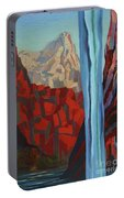 Through The Narrows, Zion Portable Battery Charger by Erin Fickert-Rowland
