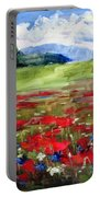 Thunder Clouds Over Bavarian Meadow Portable Battery Charger