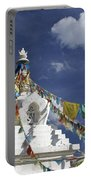 Tibetan Stupa With Prayer Flags Portable Battery Charger