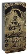 Tibetan Thangka - Vaishravana - God Of Wealth And Regent Of The North Portable Battery Charger