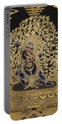 Tibetan Thangka - Vajrapani - Protector And Guide Of Gautama Buddha Portable Battery Charger