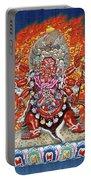 Tibetan Thangka  - Wrathful Deity Hayagriva Portable Battery Charger