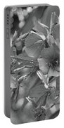 Tibouchina In Black And White Portable Battery Charger