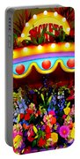 Ticket Booth Of Flowers Portable Battery Charger