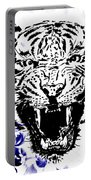 Tiger And Paisley Portable Battery Charger