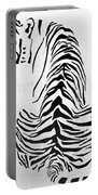 Tiger Animal Decorative Black And White Poster 4 - By  Diana Van Portable Battery Charger