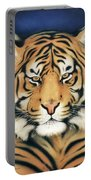 Tiger At Midnight Portable Battery Charger