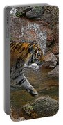 Tiger Crossing Poster Portable Battery Charger
